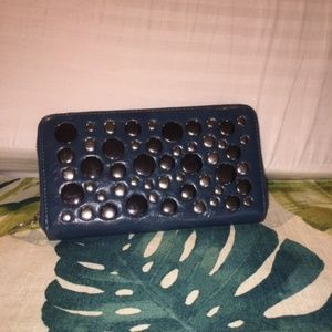 Nicole Lee Teal Wallet With Studs